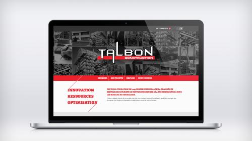 Site Web-Construction Talbon - Talbon Mac Book Pro Mockup 3000